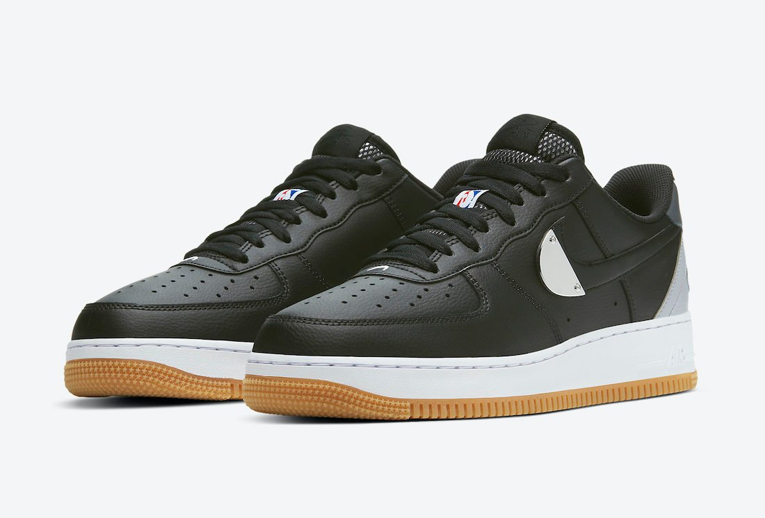 Nike Air Force 1 Low NBA Black Grey CT2298-001 Release Date Info