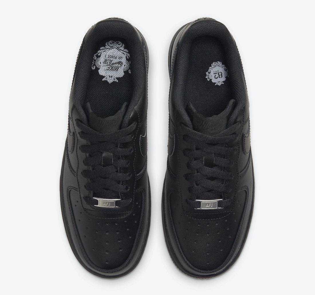 Nike Air Force 1 Low Triple Black DD8959-001 Release Date Info