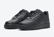 Nike Air Force 1 Low Triple Black DD8959-001 Release Date Info