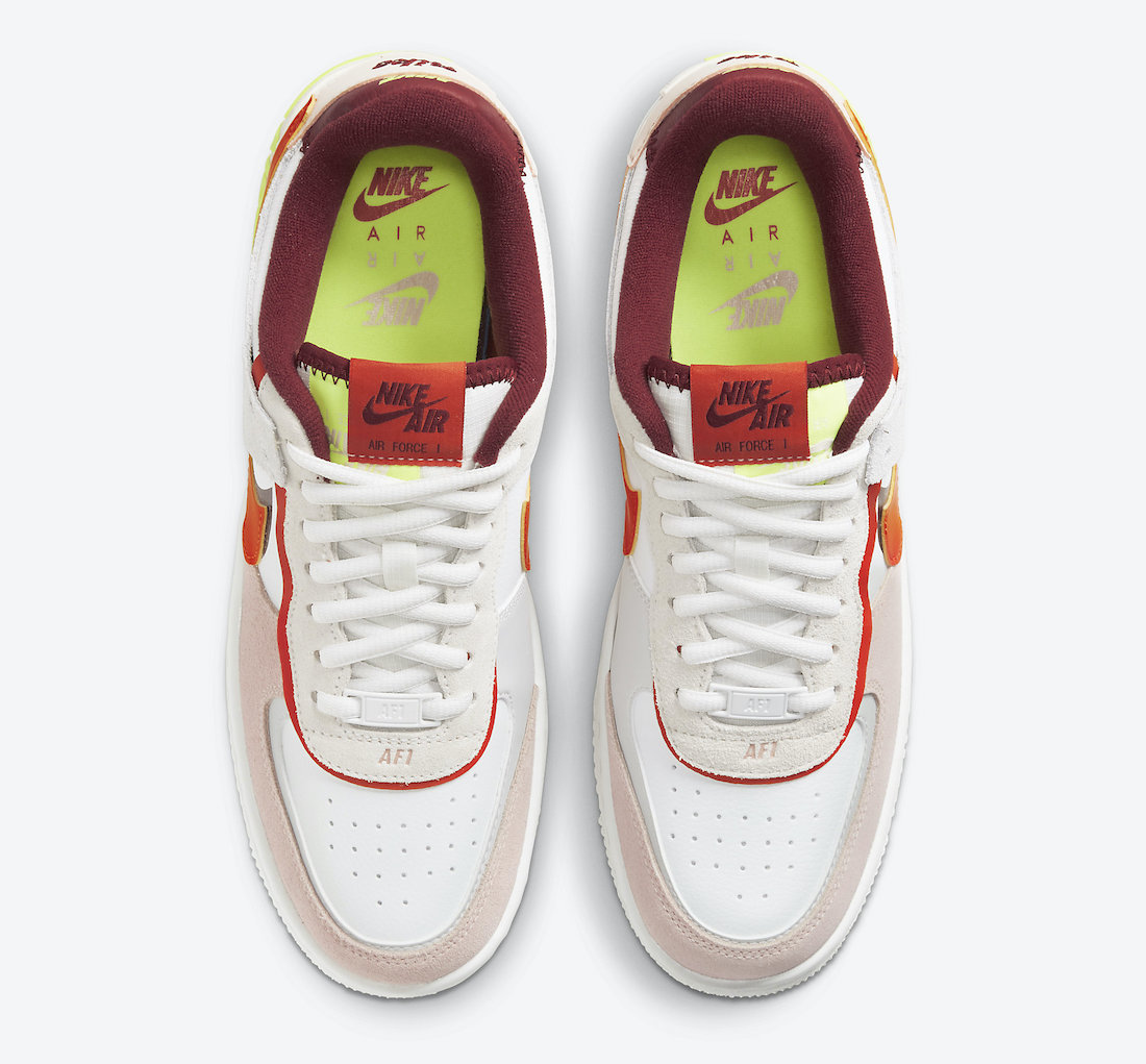 Nike Air Force 1 Shadow Team Red Orange CU8591-600 Release Date Info