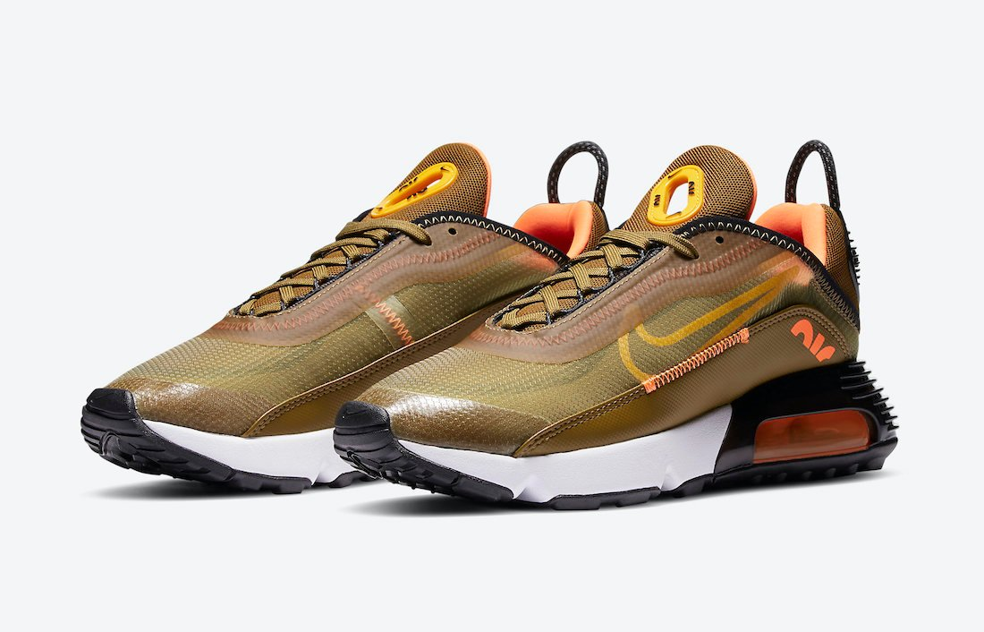 Nike Air Max 2090 Olive Flak University Gold DC1875-300 Release ...