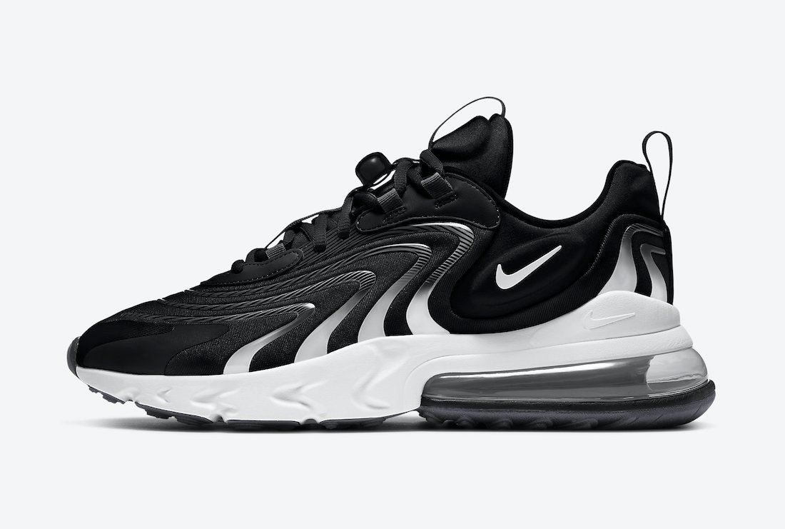 Nike Air Max 270 React ENG Black Grey CT1281-001 Release Date Info