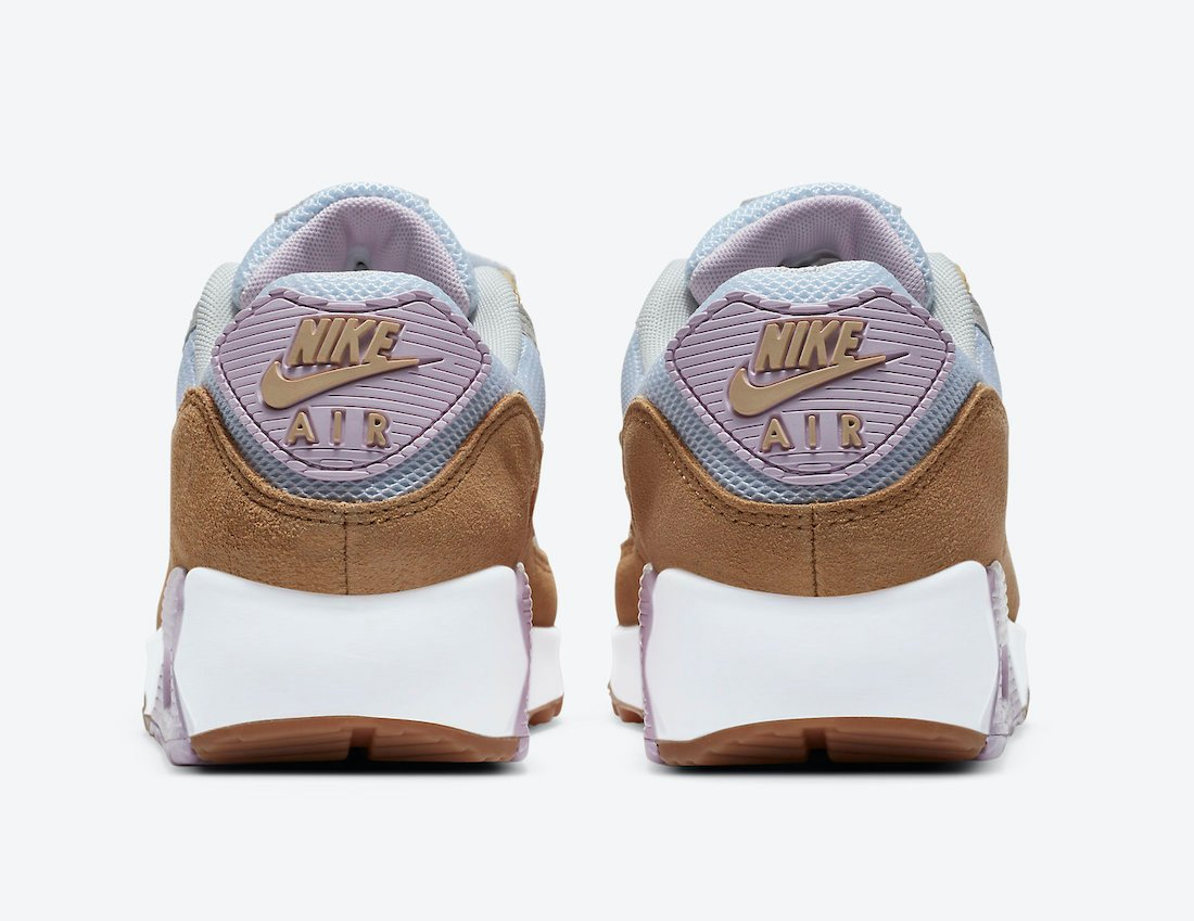 Nike Air Max 90 Blue Pink Brown Grey DD6615-100 Release Date Info