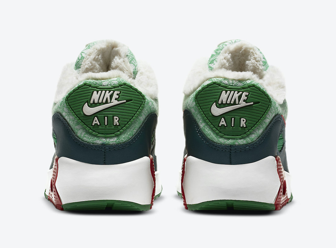 Nike Air Max 90 GS Christmas DC1621-100 Release Date Info