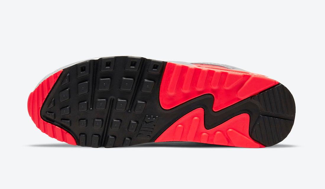 Nike Air Max 90 Night Silver Bright Crimson CZ7656-001 Release Date Info