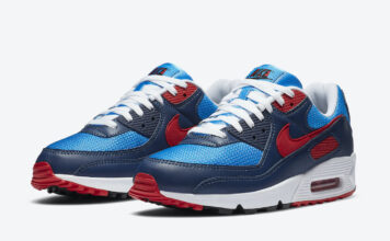 Nike Air Max 90 Photo Blue University Red CT1687-400 Release Date Info