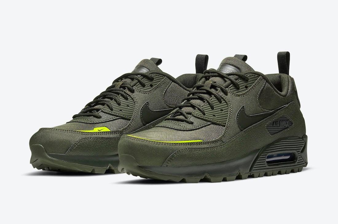 Nike Air Max 90 Surplus Cargo Khaki Lemon Venom CQ7743-300 Release ...