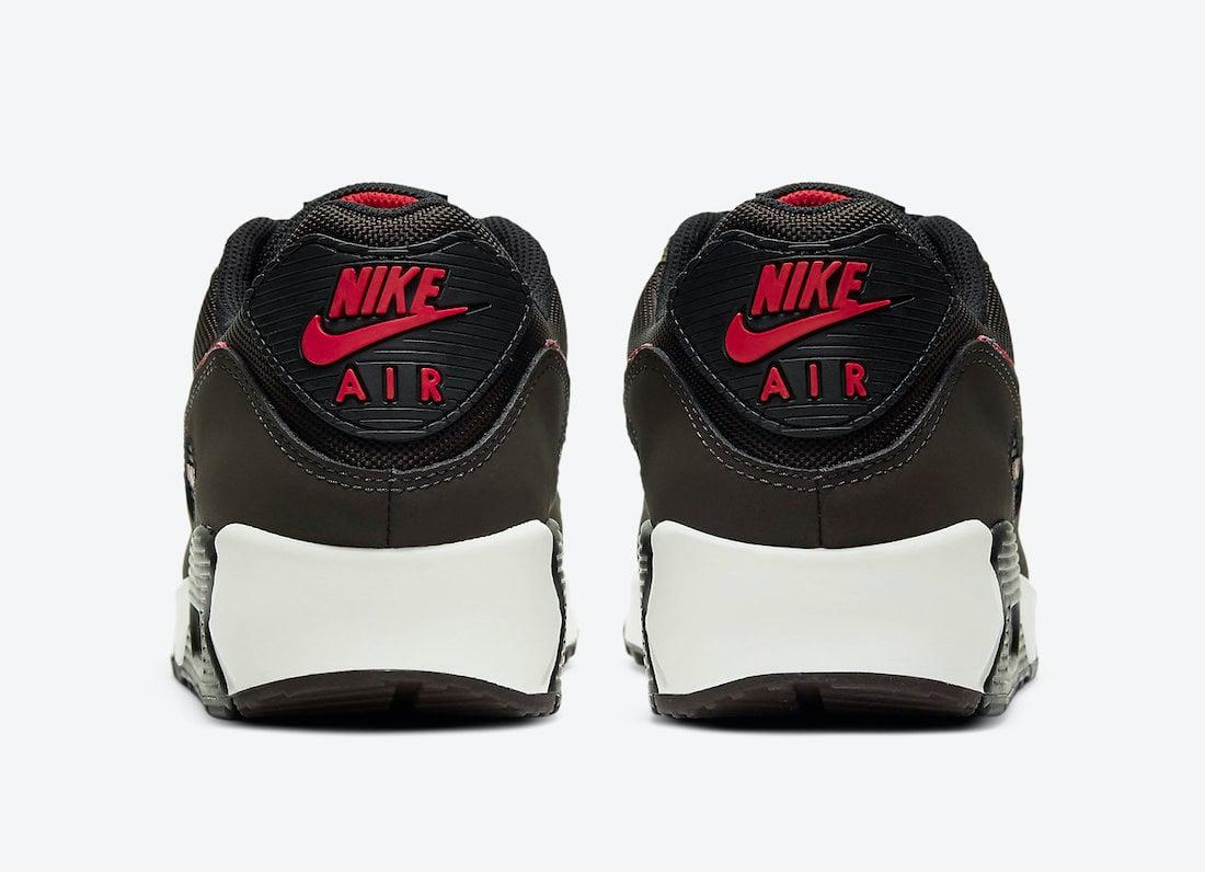 Nike Air Max 90 Velvet Brown University Red CT1686-200 Release Date Info