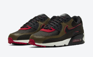 Nike Air Max 90 Velvet Brown University Red CT1686-200 Release Date Info