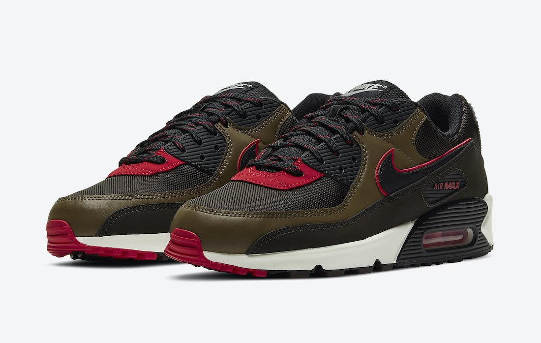 Nike Air Max 90 Velvet Brown University Red CT1686-200 Release Date Info | SneakerFiles