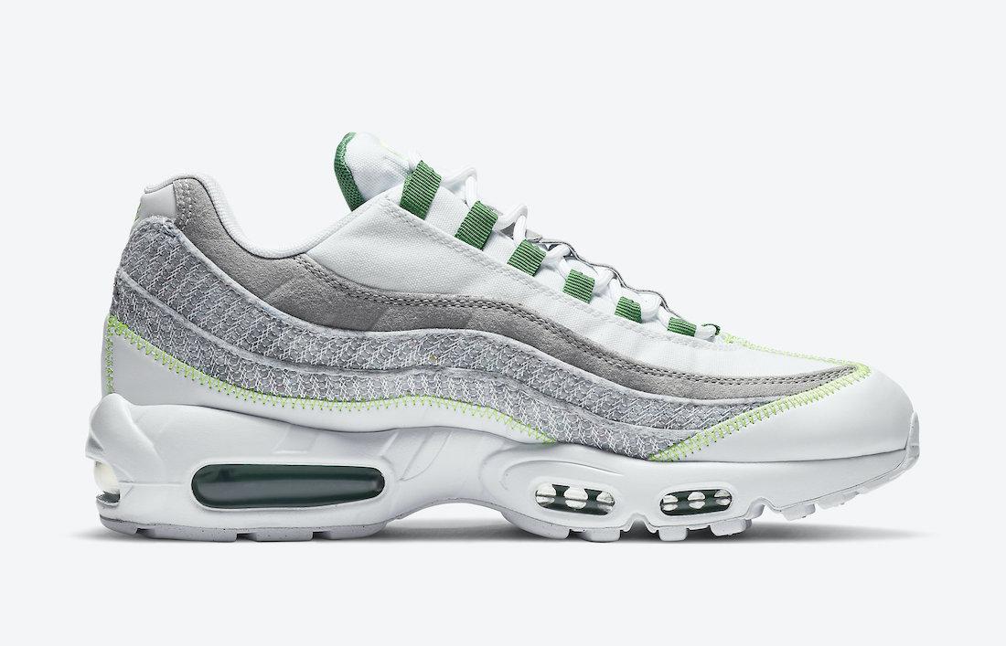 Nike Air Max 95 NRG White Classic Green Electric Green CU5517-100 Release Date Info