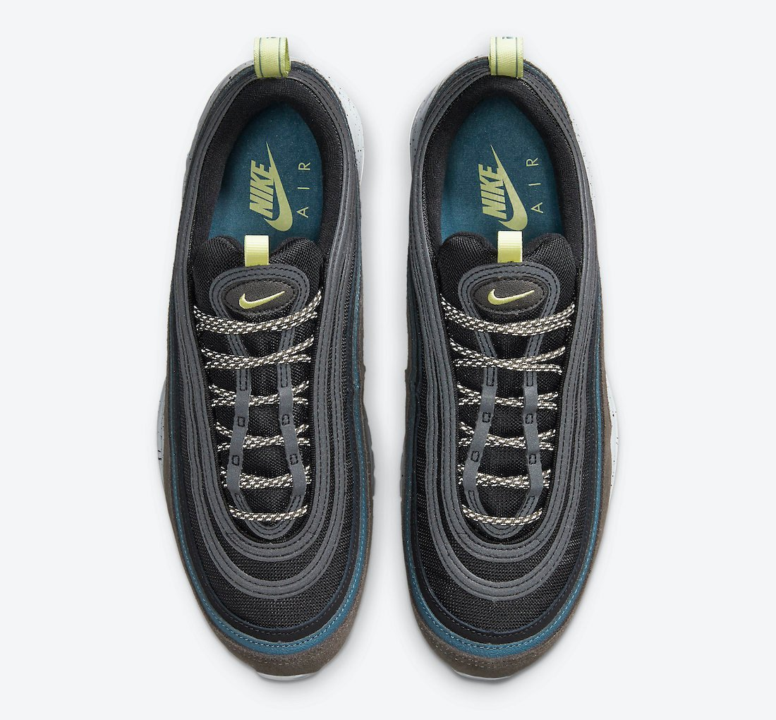 Nike Air Max 97 Black Blue Olive Yellow DB4611-001 Release Date Info