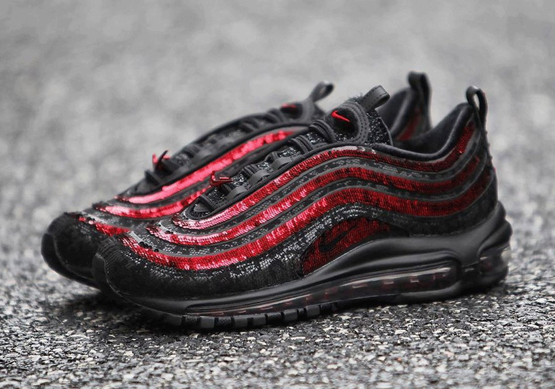 Nike Air Max 97 Sequin Black Red DC1709-060 Release Date Info
