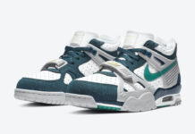 Nike Air Trainer 3 White Turquoise Teal Yellow CZ3568-100 Release Date Info