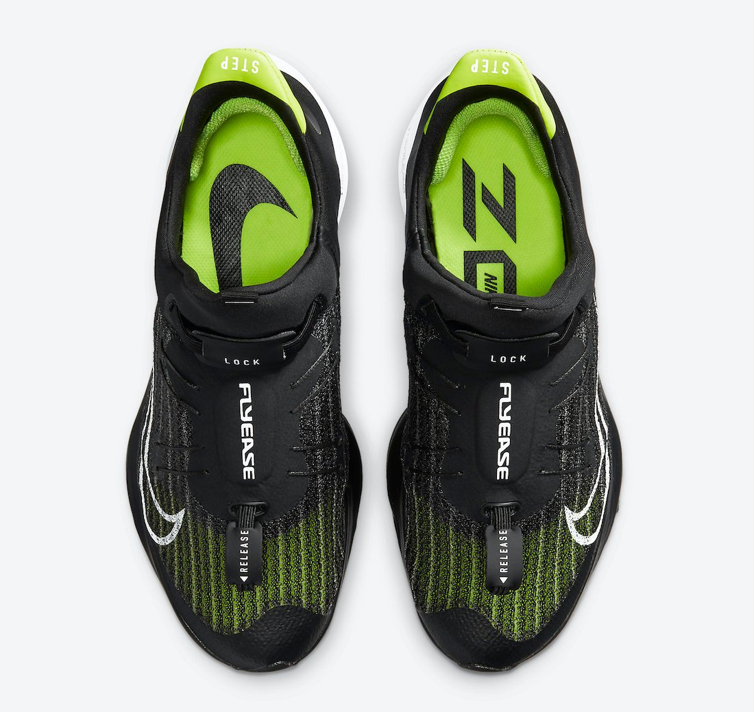 Nike Air Zoom Tempo NEXT% FlyEase Black White Volt CV1889-001 Release Date Info