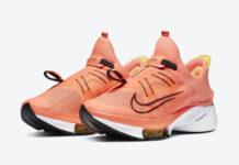 Nike Air Zoom Tempo NEXT% FlyEase Mango Black Yellow CV1889-800 Release Date Info