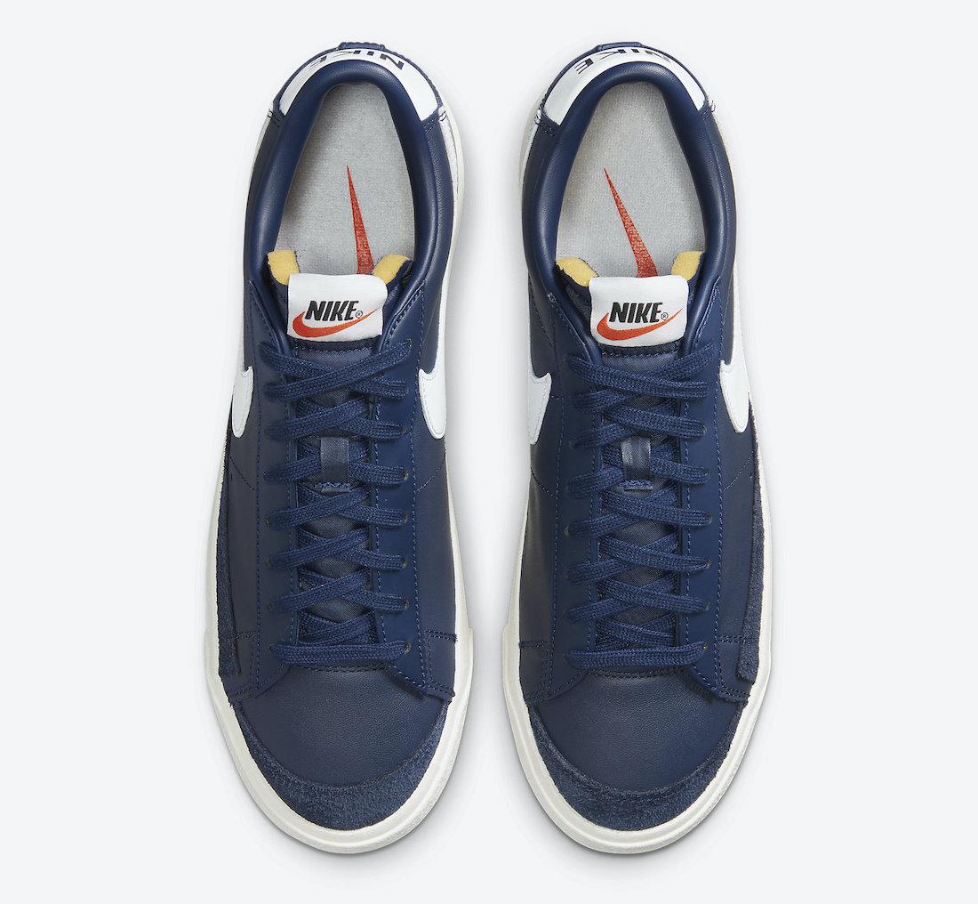 Nike Blazer Low 77 Vintage Midnight Navy DA6364-400 Release Date Info
