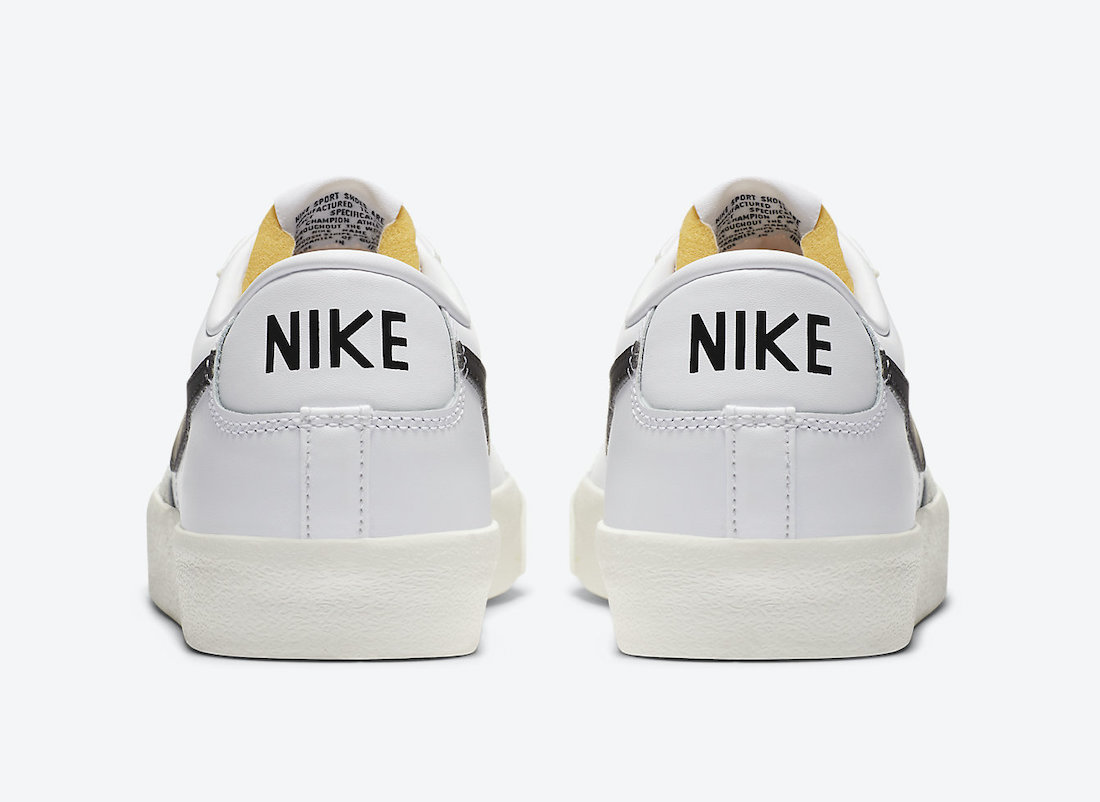 Nike Blazer Low 77 Vintage White Black DA6364-101 Release Date Info