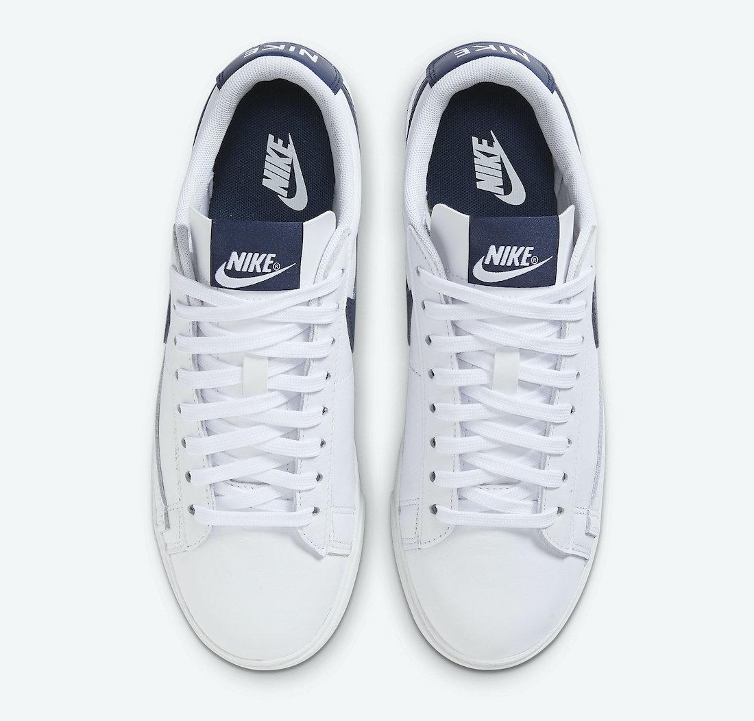 Nike Blazer Low White Midnight Navy AV9370-119 Release Date Info