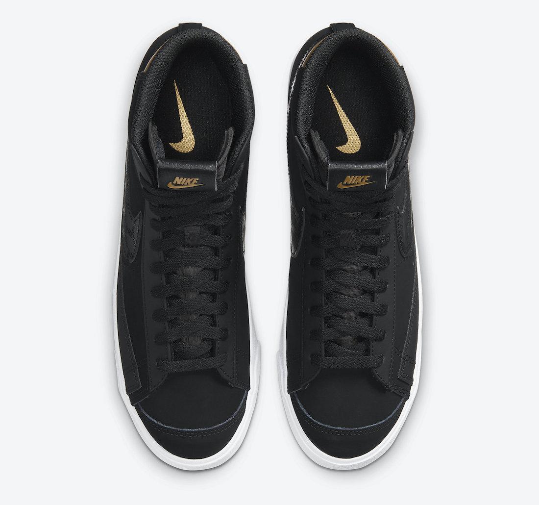 Nike Blazer Mid Black Gold DD6614-001 Release Date Info