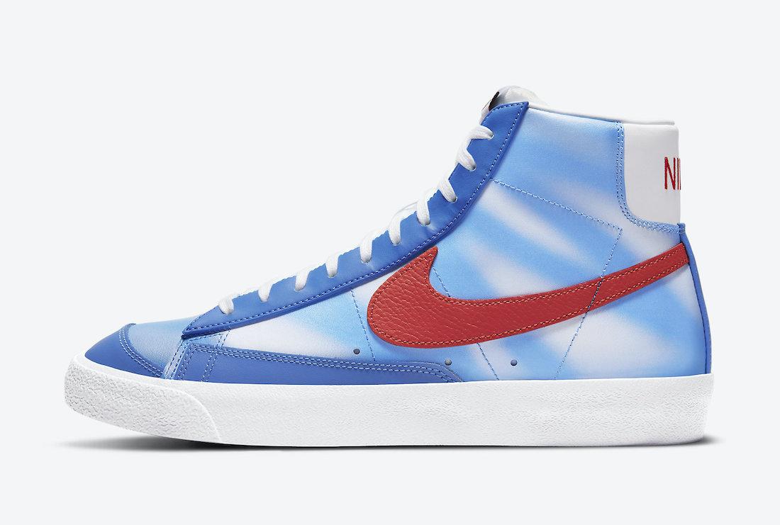 Nike Blazer Mid Blue Clouds DC1405-400 Release Date Info