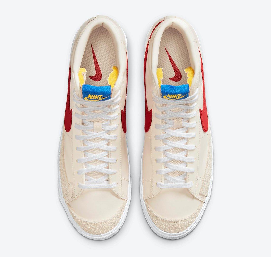 Nike Blazer Mid Cream Red White DH0929-800 Release Date Info