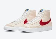 Nike Blazer Mid Cream Red White DH0929-800 Release Date Info