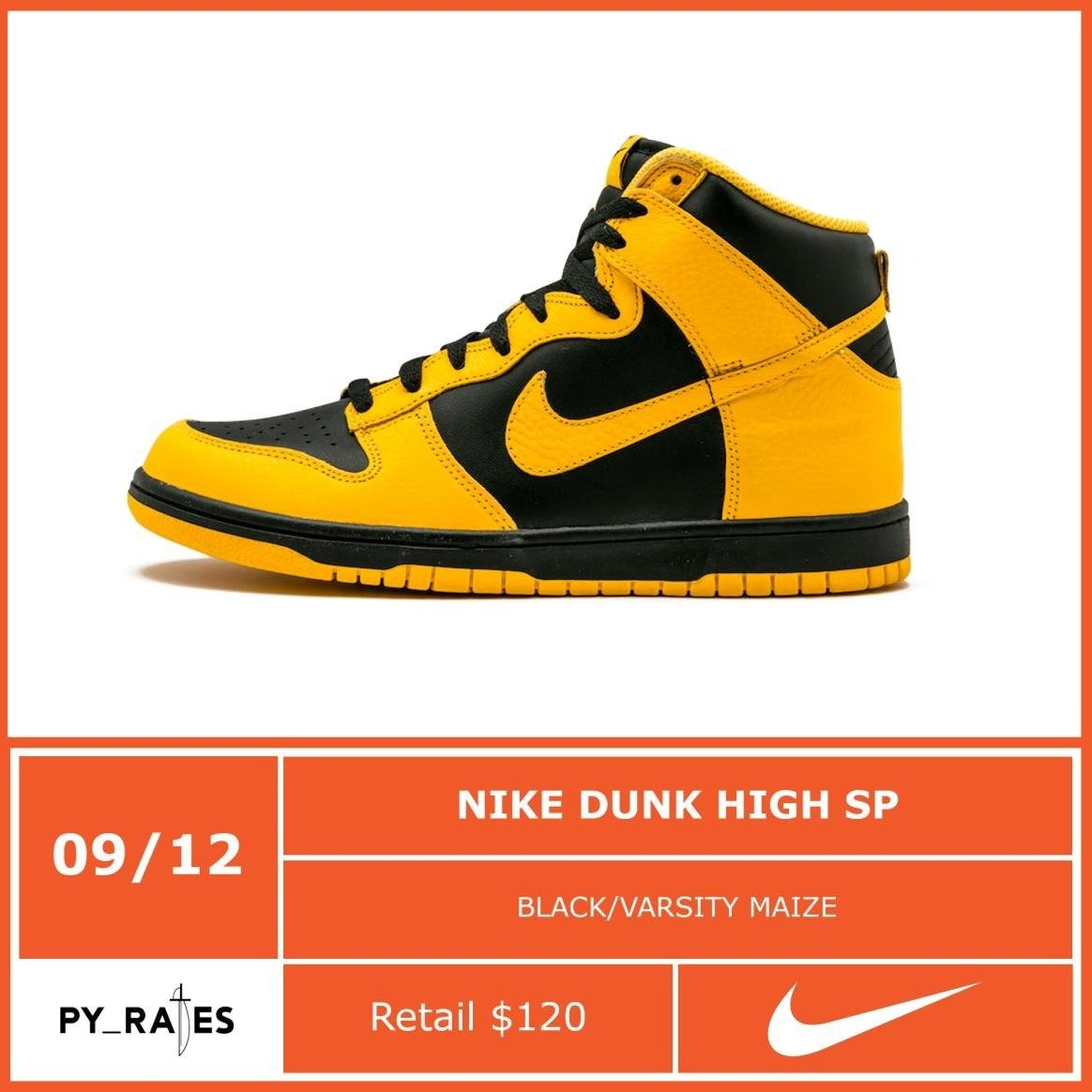 Nike Dunk High Varsity Maize Release Info