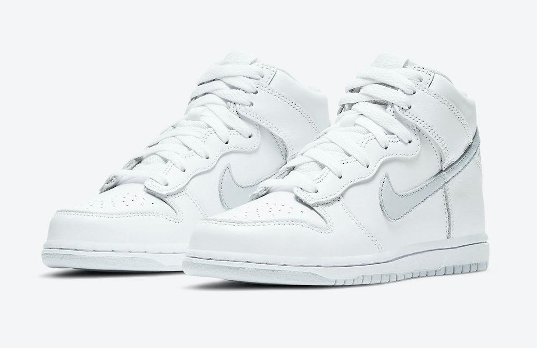 Nike Dunk High White Pure Platinum DC9053-101 Kids Release Date Info