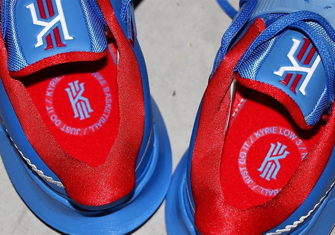 Nike Kyrie Low 3 Tie-Dye Nets University Blue CJ1287-400 Release Date Info
