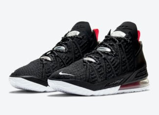 Nike LeBron 18 Black University Red White CQ9283-001 Release Date Info