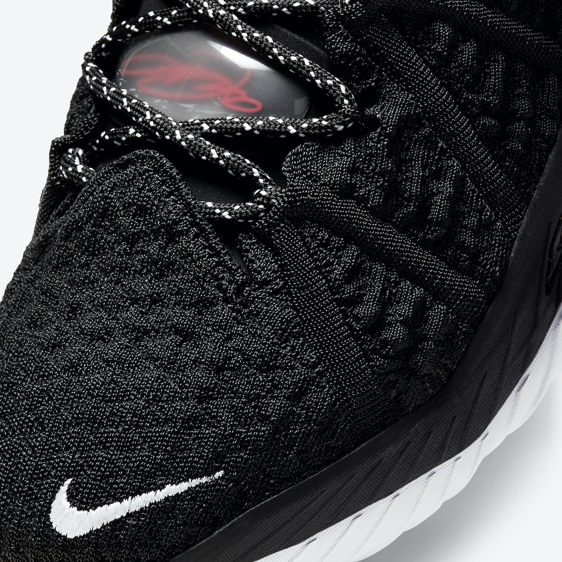 Nike LeBron 18 Black University Red White CQ9283-001 Release Date Info