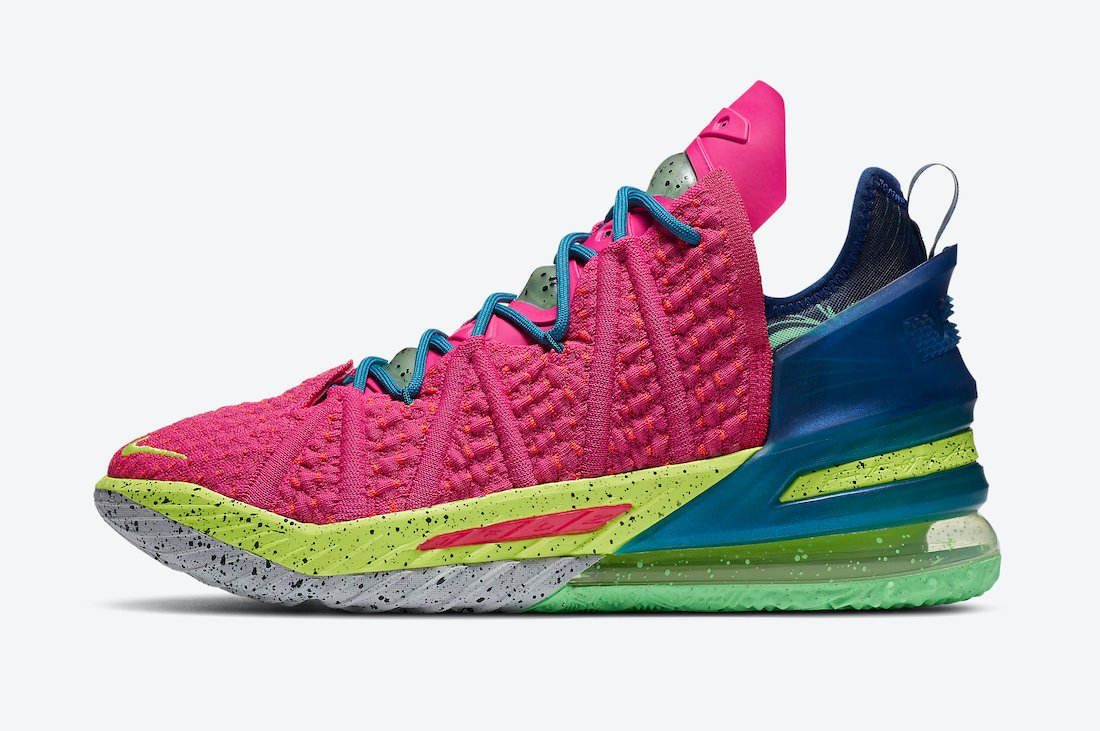 Nike LeBron 18 Los Angeles By Night Pink Prime DB8148-600 Release Date