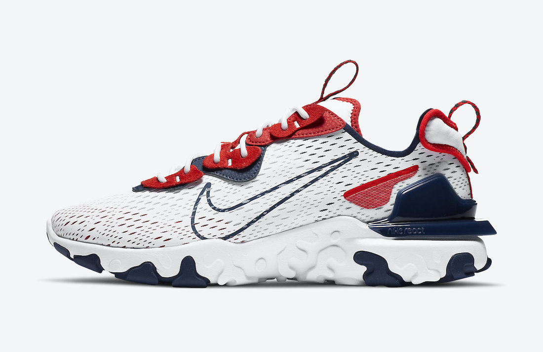 Nike React Vision White Navy Red CW7355-100 Release Date Info