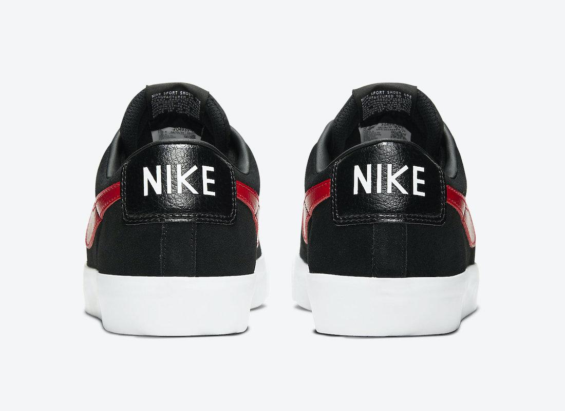 Nike SB Blazer Low GT Black University Red White 704939-005 Release Date Info