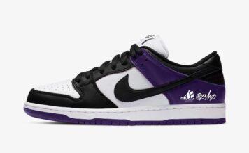 Nike SB Dunk Low Court Purple White Black BQ6817-500 Release Date Info