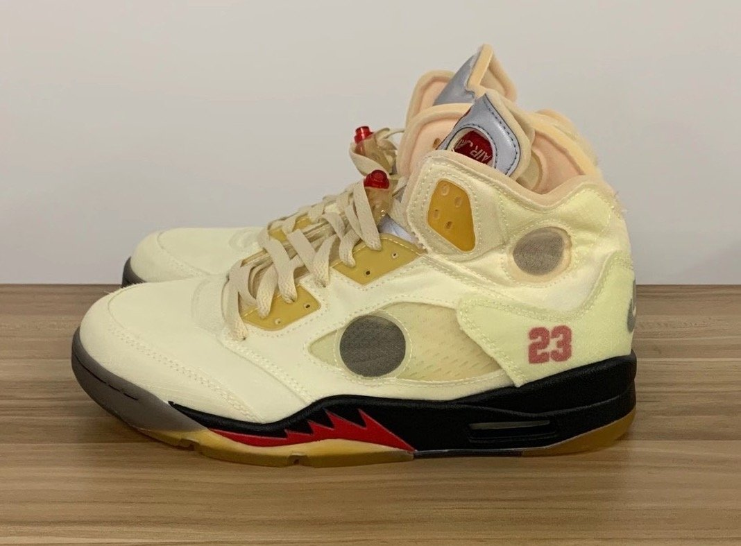 Off-White Air Jordan 5 Sail Fire Red Release Delayed