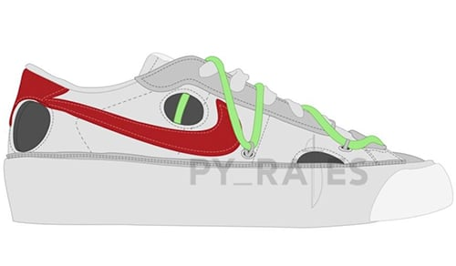 Off-White Nike Blazer Low White University Red 2021 Release Date