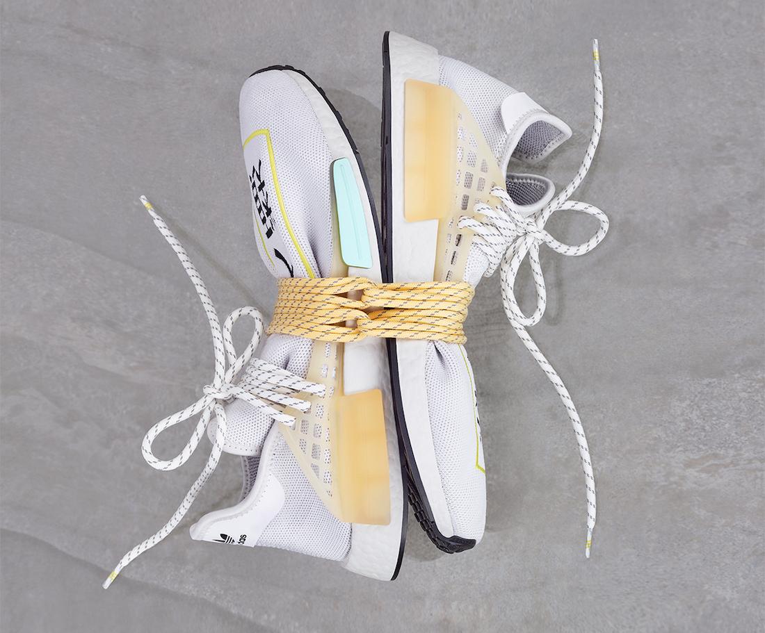 Pharrell adidas NMD Hu White Q46467 Release Date