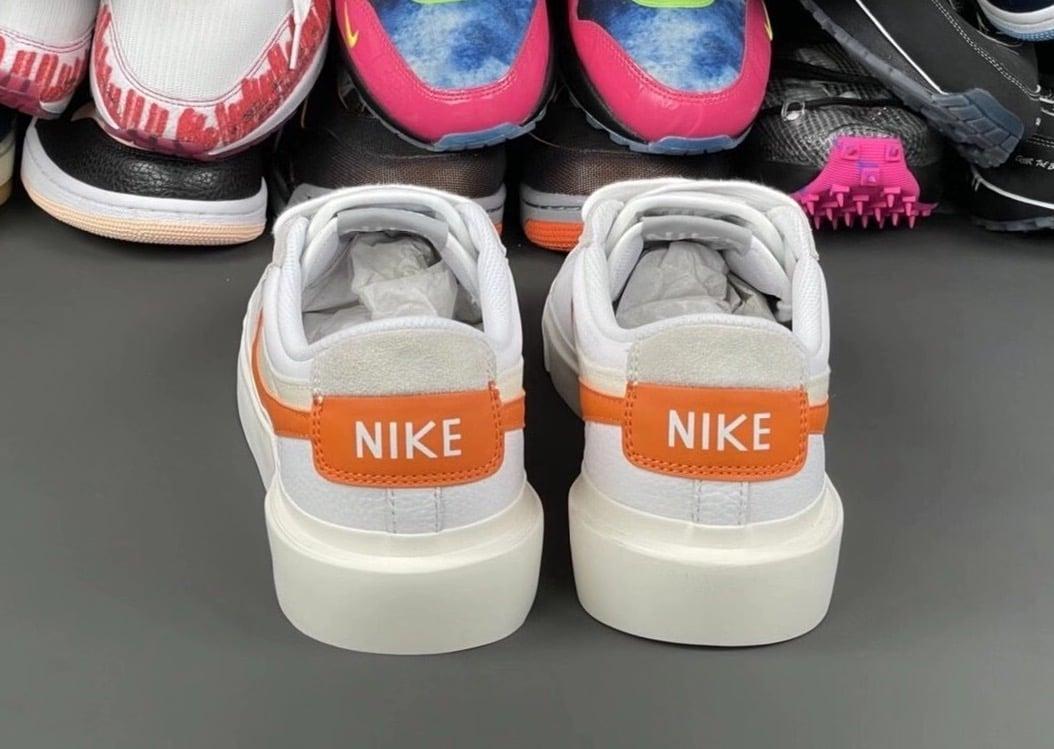 Sacai Nike Blazer Low Magma Orange 2021 Release