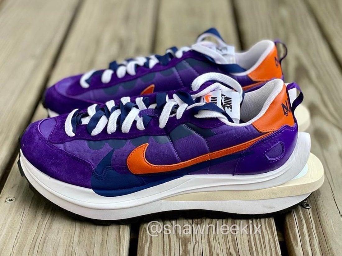 Sacai Nike VaporWaffle Dark Iris Campfire Orange Release Date