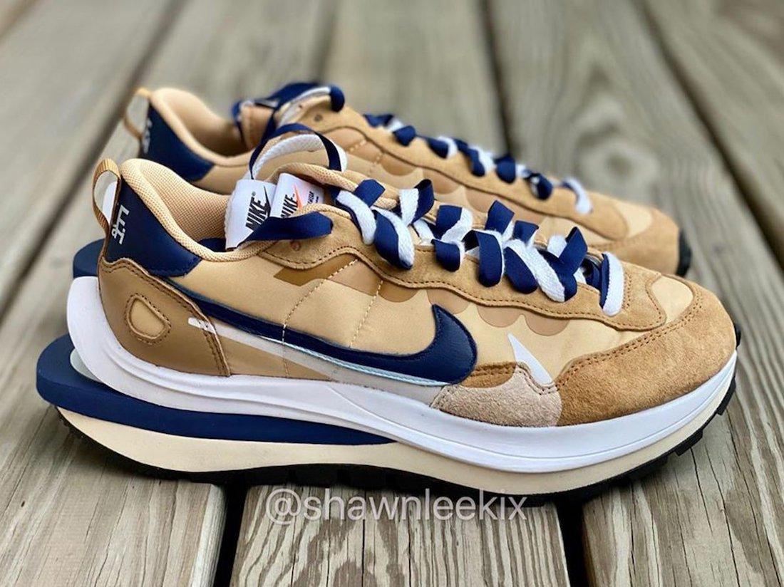 Sacai Nike VaporWaffle Sesame Blue Release Date
