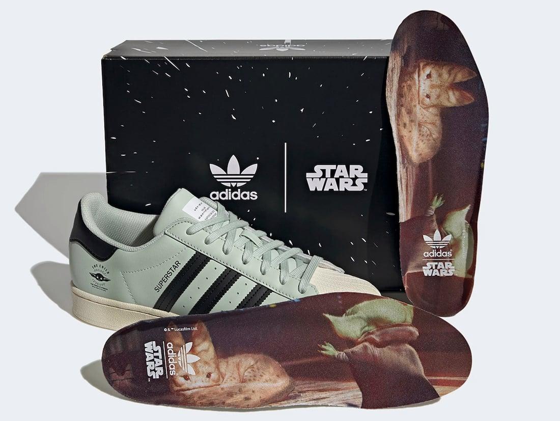 Star Wars adidas Superstar Baby Yoda The Child GZ2751 Release Date Info