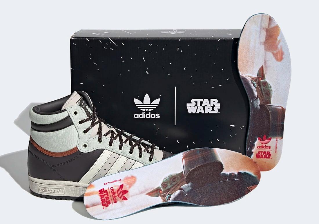 Star Wars adidas Top Ten Hi Baby Yoda The Child GZ2739 Release Date Info