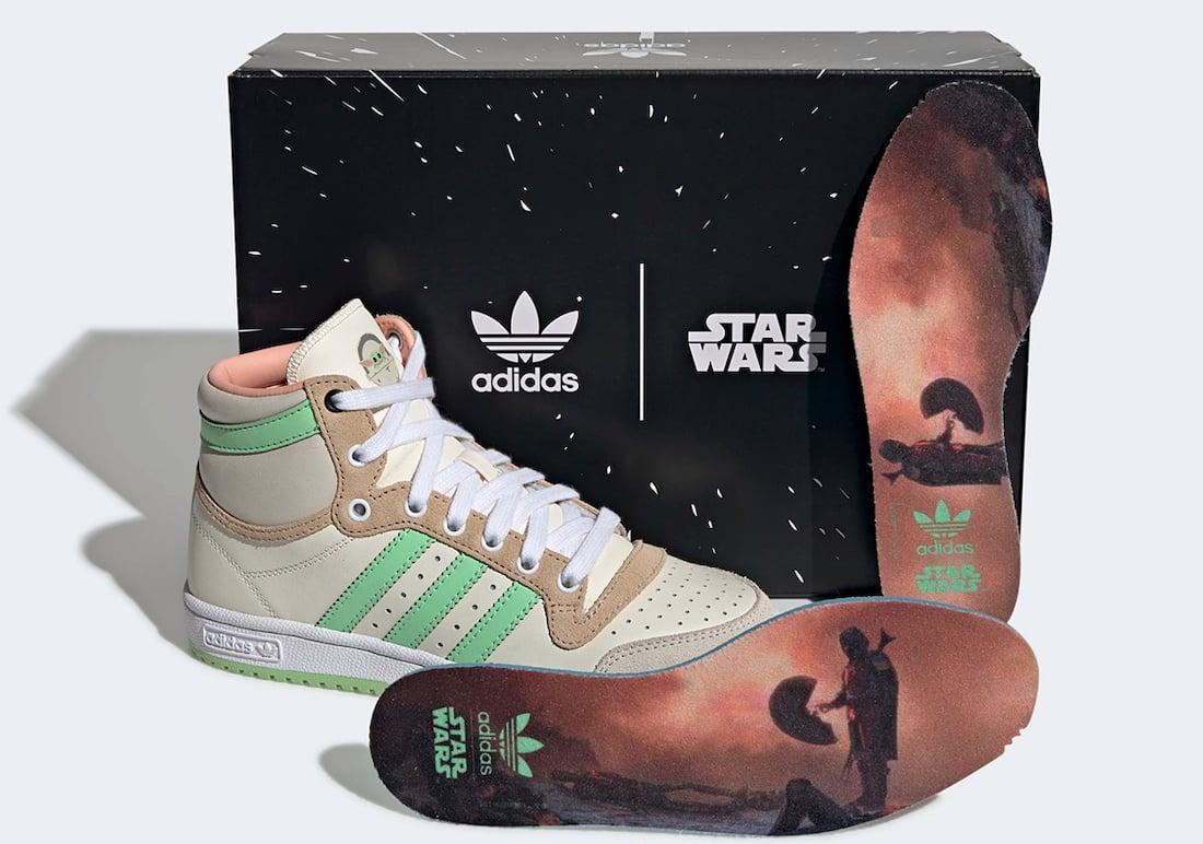 Star Wars adidas Top Ten Hi Baby Yoda The Child GZ2746 Release Date Info