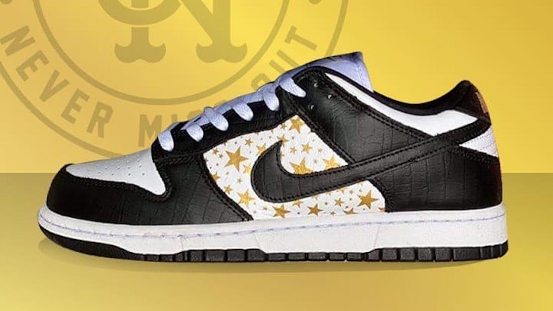 Supreme Nike SB Dunk Low Black White DH3228-102