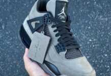 Travis Scott Air Jordan 4 Olive Unreleased Sample