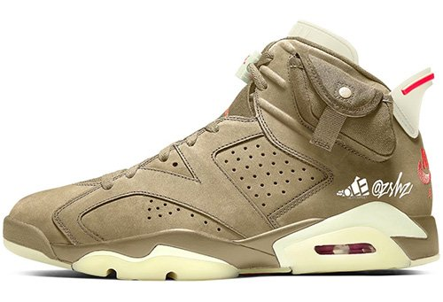 Travis Scott Air Jordan 6 British Khaki Release Date