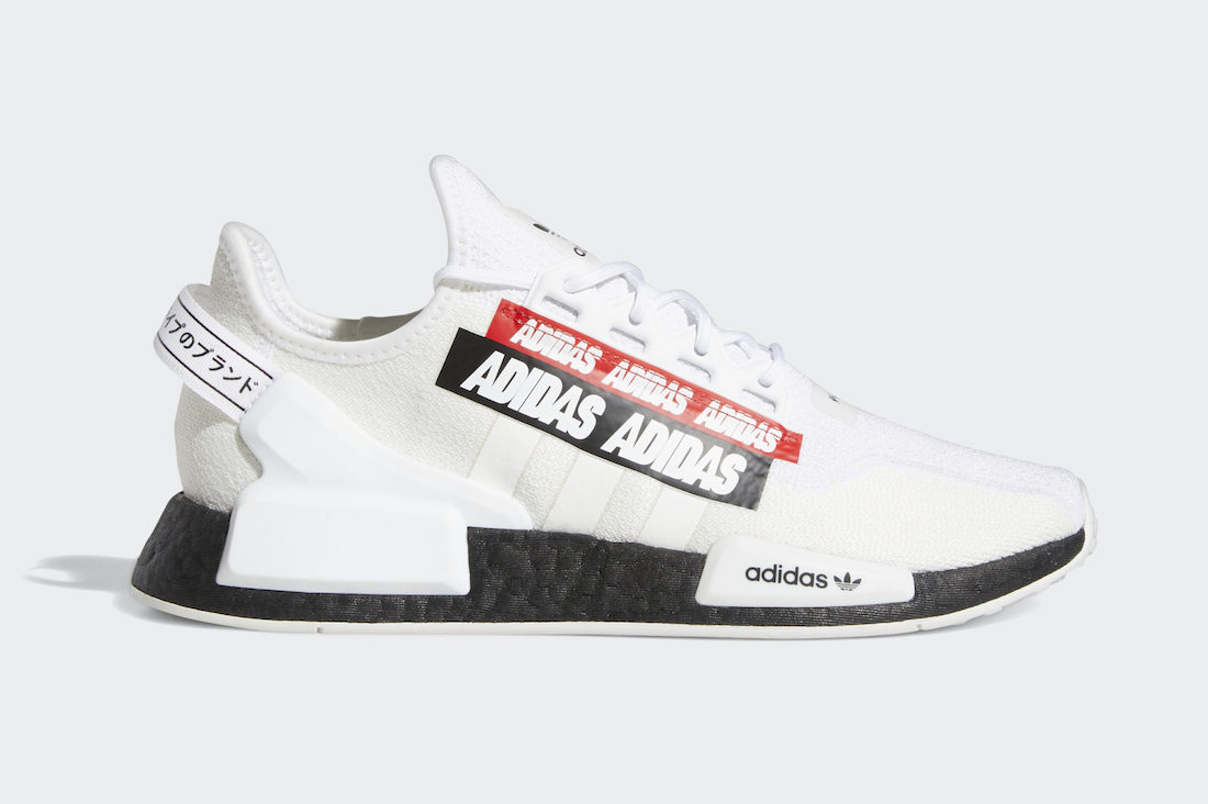 adidas NMD R1 V2 White Black Red H02537 Release Date Info