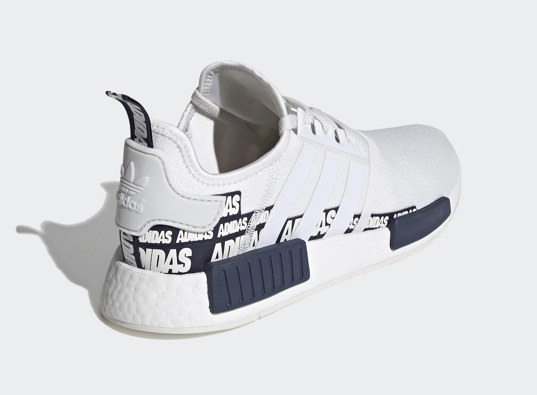 adidas NMD R1 White Collegiate Navy FX6795 Release Date Info